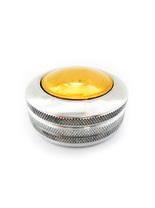 К «Сатурн-кнопка» (серебро) d42 мм. с подушкой. Металлическая оснастка для круглой печати.