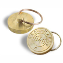 Клише печати металлическая под пластилин с кольцом от ключей